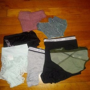 LOT Victoria's Secret and PINK panties size Large